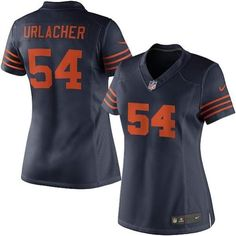 Nike Women's Chicago Bears Brian Urlacher Limited Throwback Jersey