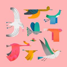 Some more birds taken from a print I made for Emily Fuchs. See link in my bio fo… – Bird Supplies Art And Illustration, Elements Of Art, Art Design, Fabric Painting, Artsy, Drawings, Instagram, Prints, Bird Doodle