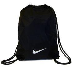 nike string bags | Details about Nike Black Nylon Drawstring Gymsack.UKSize 1