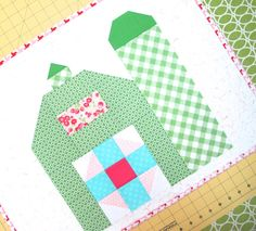 Bee In My Bonnet: The Quilty Barn Along...A New Barn Block Tutorial!!!...Barn with Silo #1