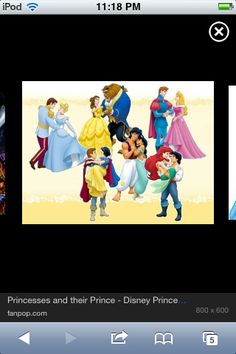 The princesses and their princes