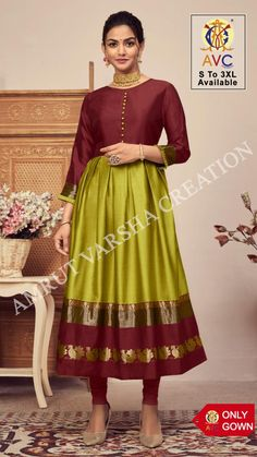 *~Company Price :- ₹599~* *Offer Price :- ₹575* Minimum Order :- 7 Pcs Full Set Price :- *₹4,025 + ₹201 (GST 5%)* *Discount Applied :- 4%* *Fabric Description* 👗Top :- Lichi Silk Jacquard Inner :- Crape Size :- S(36), M(38), L(40), XL(42), XXL(44), XXXL(46) Fancy Gowns, Gowns Online, Full Set, Midi Skirt, Product Description, Silk, Skirts, Fabric, Vintage