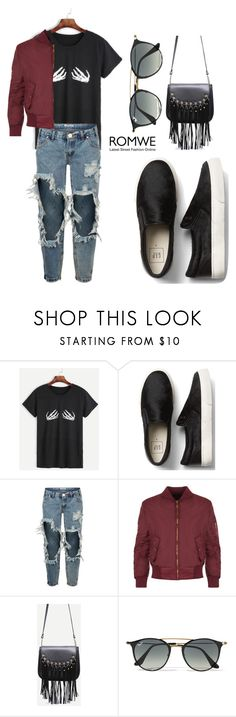 """""""ROMWE T-Shirt"""" by tania-alves ❤ liked on Polyvore featuring OneTeaspoon, WearAll and Ray-Ban"""