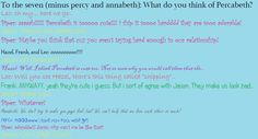 To the seven (minus percy and annabeth): What do you think of Percabeth? ~annie