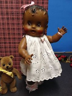 "Sweet 1950's ""So Wee "" Baby Doll - ""Sun Rubber Co.""- ""Ruth E. Newton"" & Trunk!"