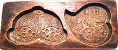 Antique Hand Carved Wooden Candy/Cookie/Cake Mold (7219), Circa Late of 1800