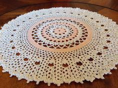 Cream and Peach Doily by SpecialDoilies on Etsy