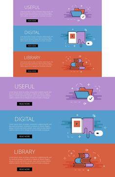 Useful Digital Library banner set