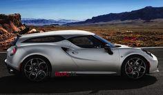 Alfa Romeo 4C Shooting Brake by Zagato