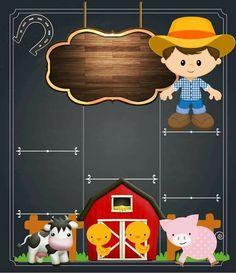 Fazendinha do benny Farm Animal Party, Farm Animal Birthday, Tractor Birthday, Farm Birthday, First Birthday Parties, Farm Party Invitations, Noahs Ark Party, Farm Kids, Cowboy Party