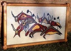 Vintage Tapestry Framed in Oregon Pine with Glass front. Very good condition. OFFERS NOW OPEN