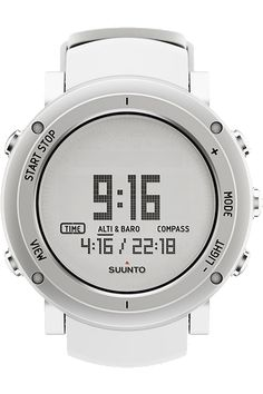 Suunto Core Pure #White   The award-winning Suunto Core gathers the range of accurate data needed when exploring the wilder parts of the world. The watch has an easy interface to navigate through, resulting in better safety in harsh conditions.