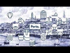 I like you too, blue (Porto city branding by White Studio) Modern Logo Design, Corporate Design, Corporate Identity, Identity Design, Visual Identity, Brand Identity, Mexico Logo, Sistema Visual, Porto City