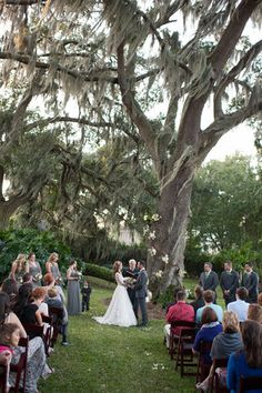 Peachtree House ceremony on the north lawn