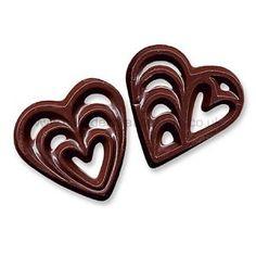 Chocolate Filigree Hearts