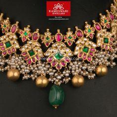 Heritage Guttapusalu set in Mozanites Gold Jewellery Design, Bead Jewellery, Gold Jewelry, Antique Jewellery, Jewelry Necklaces, Hair Jewellery, Diamond Jewelry, Jewelry Box, Gold Necklace