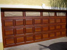 Painting Wood Doors Metal Garages 67 New Ideas Metal Garage Doors, Garage Door Paint, Garage Door Colors, Modern Garage Doors, Metal Garages, Garage Door Makeover, Garage Door Design, Diy Garage, Wood Doors