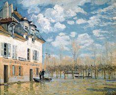 Alfred Sisley. L'inondation à Port-Marly (1876)