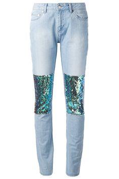 12 Outrageously Embellished Jeans - Filles A Papa Sequined Jeans, $246.81; farfetch.com :D :D :D