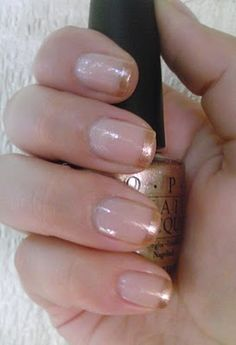 Gold-Tip French Manicure