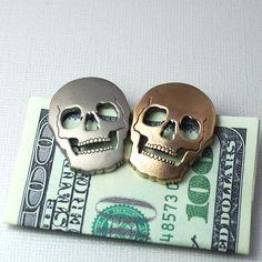 Golden #Skull Money Clip $44.00