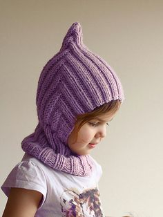 Ravelry: Elf Pixie Ribbed Balaclava pattern by Agnese Iskrova Baby Boy Knitting Patterns, Knitting For Kids, Baby Knitting, Baby Clothes Blanket, Knitted Baby Clothes, Knitted Balaclava, Crochet Character Hats, Knitted Hats Kids, Knit Beanie Hat