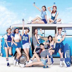 Twice x Pocari sweat South Korean Girls, Korean Girl Groups, Pocari Sweat, Twice Group, Sana Momo, Twice Once, Nayeon Twice, Fun Songs, Im Nayeon