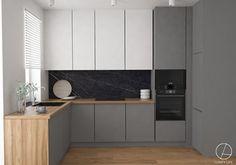 Kitchen Layout Interior, Kitchen Room Design, Best Kitchen Designs, Home Room Design, Kitchen Cabinet Design, Living Room Kitchen, Home Decor Kitchen, Home Kitchens, Modern Grey Kitchen
