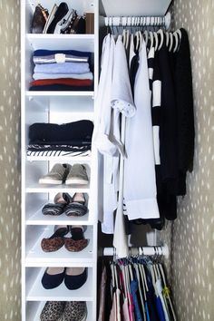 the HUNTED INTERIOR: Making the Most of a Small Closet