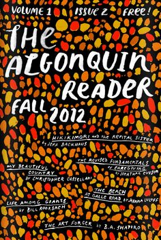 : : AD: Anne Winslow, Cover Illustration and Hand Lettering for 'The Algonquin Reader'. © Jim Tierney 2012 : :