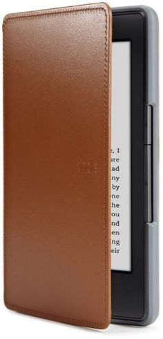 Amazon Kindle Leather Cover, Saddle Tan (does not fit Kindle Paperwhite, Touch, or Keyboard) by Amazon, http://www.amazon.com/dp/B004SD1YGE/ref=cm_sw_r_pi_dp_6Qq2qb1RX5F3P
