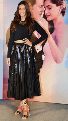 Sonam Kapoor at the launch of the music video 'Dheere Dheere'. #Bollywood #DheereDheere #Fashion #Style #Beauty