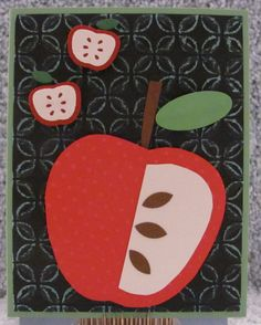 Green Apple Blank A2 Greeting Card Apples Orchards Fruit