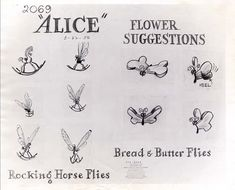 This is a very cool and unusual model sheet for Alice, a flower suggestions sheet that has no flowers, but rather insects! From March 22,...