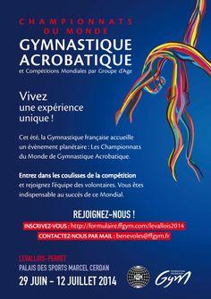 Championnat du Monde Gymnastique Acrobatique 2014. Du 29 juin au 12 juillet 2014 à levallois-perret.