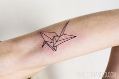 #minimal #origami #tattoo