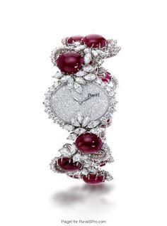 Piaget Vintage - Montre Rubis et Diamants