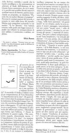 Recensione di Damiano Sinfonico, «Poesia», giugno 2015.