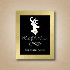 Christmas Wine Labels Rudolph Reserve Holiday Wine Gift Custom