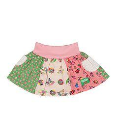 Love this Pink & Green Patchwork Nerissa Skirt - Infant & Toddler by Oishi-m on #zulily! #zulilyfinds