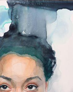 "5,813 отметок «Нравится», 40 комментариев — Ali Cavanaugh (@_alicavanaugh_) в Instagram: «Detail of ""Underneath"" #watercolor #watercolour #aquarelle #figurativeart #drips #water #flow…»"