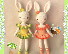 Ballerina Bunny Charlotte V - Easter Bunny - Chrochet doll - Amigurumi Toy Crochet Doll Clothes, Crochet Toys, Knit Crochet, Amigurumi Toys, Summer Crafts, Easter Bunny, Crochet Patterns, Crochet Ideas, Dolls