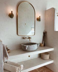 Minimalist Bathroom Inspiration, Master Bathroom, Small Bathroom, Boho Bathroom, Balinese Bathroom, Remodled Bathrooms, Colorful Bathroom, Ideas Baños, Decor Ideas