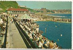 I spent my childhood here. Northern England, North Sea, North Yorkshire, Outdoor Pool, Vintage Postcards, Childhood Memories, Seaside, Dolores Park, Bays