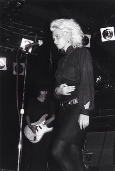 Anja Huwe of Xmal Deutschland playing at Danceteria in New York City, Sept. 29, 1984. (Photo by Fred H. Berger)