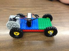 How to A Lego Car With a 9v Battery Motor