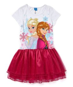 Look at this Frozen Elsa & Anna Red Flitter Dress - Girls on #zulily today!