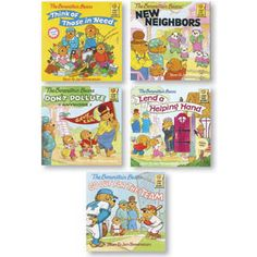 Berenstain Bears Positive Character Book Set - In The Community $19.95