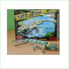 Metal Block Toy Crocodile - Green Ant Toys Online Toys Store http://www.greenanttoys.com.au/shop-online/construction-toys/metal-block-toys/crocodile/