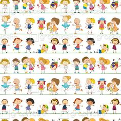 Seamless children by GraphicsRF on Etsy